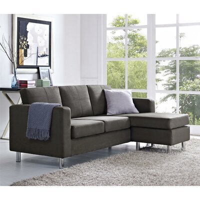 Lutz Reversible Sectional Upholstery: Gray