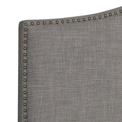 Ivesdale Queen Upholstered Panel Headboard Upholstery: Gray