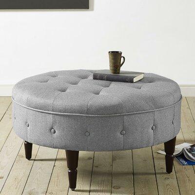 Titusville Round Ottoman Upholstery: Light Gray
