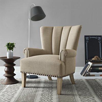 Bursten Armchair Upholstery: Beige