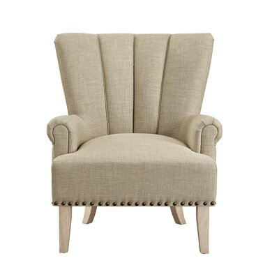Bursten Accent Armchair Color: Beige