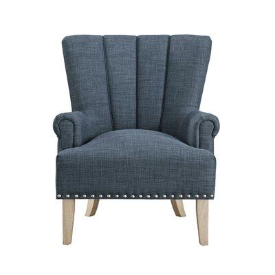Bursten Accent Armchair Color: Blue
