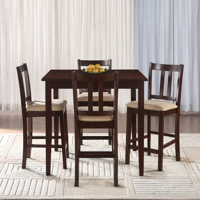 Angelique 5 Piece Counter Height Dining Set