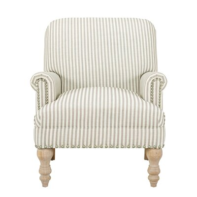 Bashir Armchair Upholstery: Beige/White
