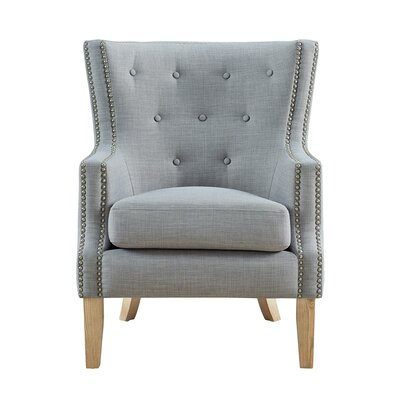Holstein Wingback Chair Upholstery: Gray