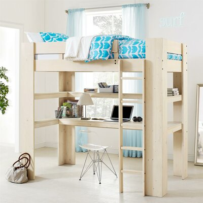Rhys Loft Bed with Desk and Shelf