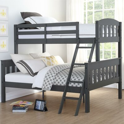 Suzanne Twin over Full Bunk Bed Finish: Gray