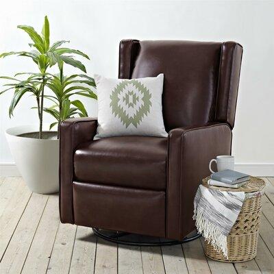 Hendersonville Handle Swivel Recliner Upholstery: Chestnut Brown