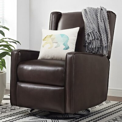 Hendersonville Handle Swivel Recliner Upholstery: Dark Cognac