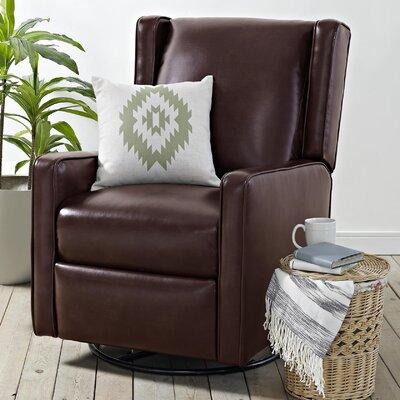 Hendersonville Handle Swivel Recliner Upholstery: Chestnut Brown