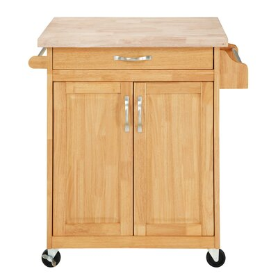 Coopersburg Kitchen Cart Base Finish: Natural