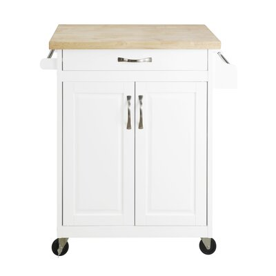 Coopersburg Kitchen Cart Base Finish: White