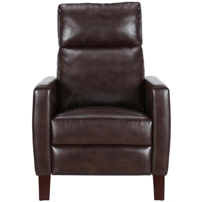 Azurine Pushback Manual No Motion Recliner Upholstery: Brown