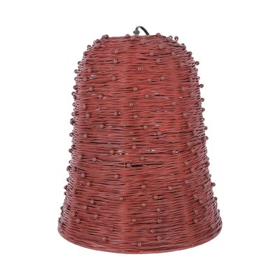 Grotto 1-Light Mini Pendant Color: Red