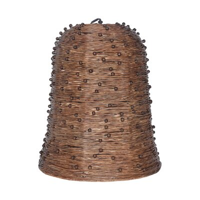 Grotto 1-Light Mini Pendant Color: Bark
