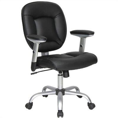 Techni Mobili Florida Adjustable Office Chair - Black