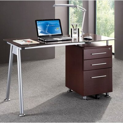 Techni Mobili Computer Desk with Side Cabinet in Chocolate at Sears.com