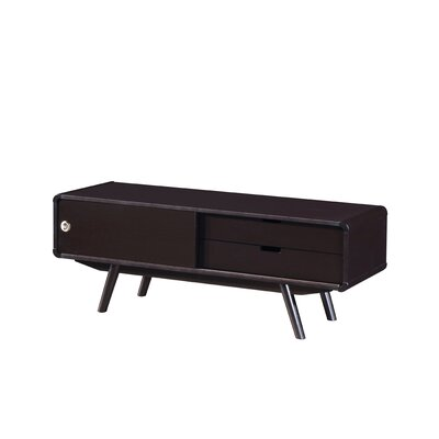Stylish Wood Veneer 47.25 TV Stand with Door and Storage