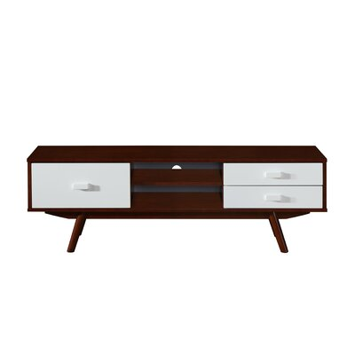 Retro Wood Veneer 55 TV Stand