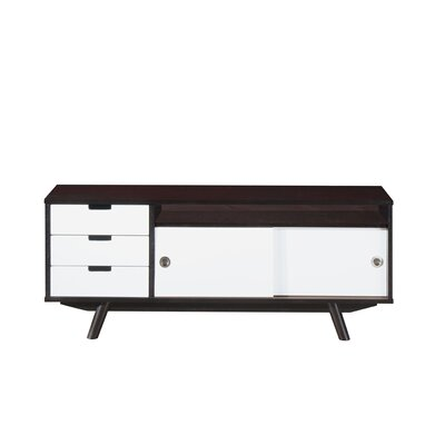 Modern Wood Veneer 48 TV Stand