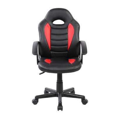 Kids Gaming and Student Racer Chair with Wheels Color: Red