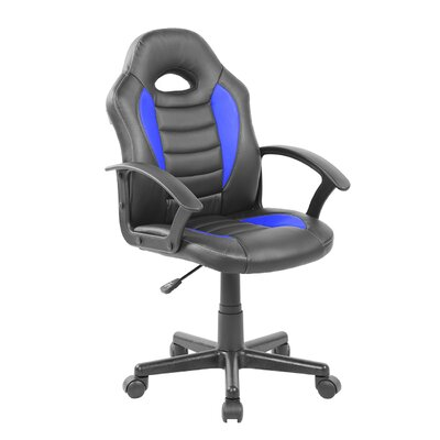 Kids Gaming and Student Racer Chair with Wheels Color: Blue