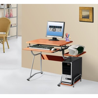 Techni Mobili Compact Computer Desk with Keyboard Tray and Side Accessory Shelf at Sears.com