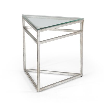 Triangular End Table Finish: Silver