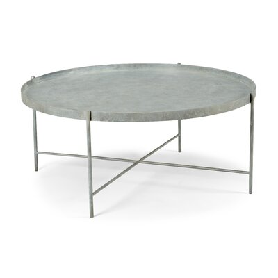 Tuileries Coffee Table Size: 15 H x 31 W x 31 D, Color: Gray