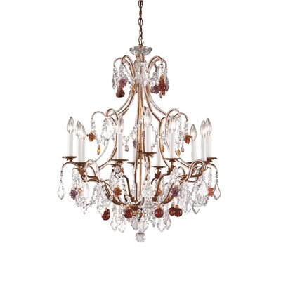 Beaded 12-Light Crystal Chandelier