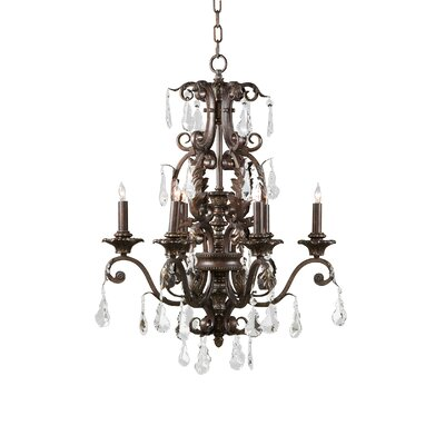 Umber 6-Light Candle-Style Chandelier