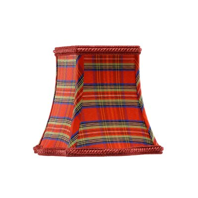 Plaid Silk Square Candelabra Shade