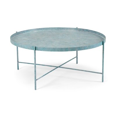 Tuileries Coffee Table Size: 18.75 H x 43.75 W x 43.75 D, Color: Blue