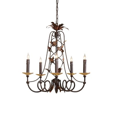 Climbing Leaves 5-Light Candle-Style Chandelier