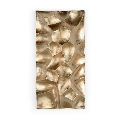 Gator 9.75 x 19.5 Aluminum Splitface Tile in Gold