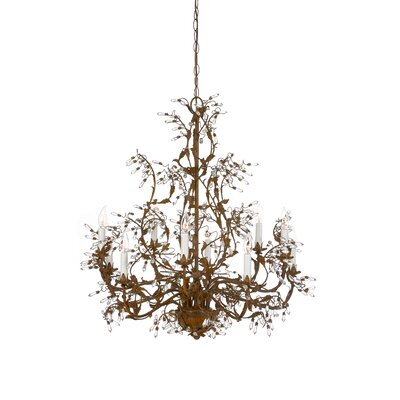Buds 10-Light Crystal Chandelier