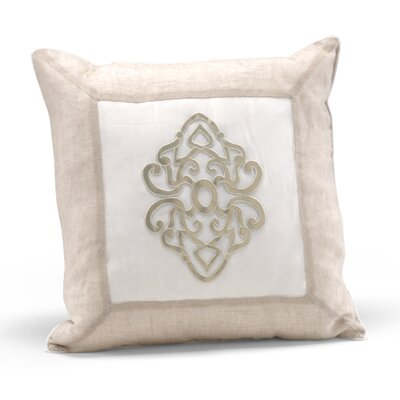 Platinum Center Medallion Throw Pillow