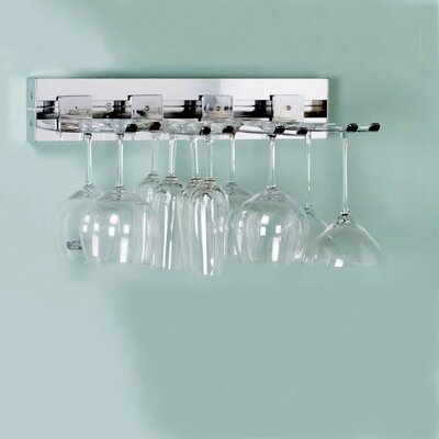 Arrange a Space Wall Mounted Wine Glass Rack Finish: Satin Nickel
