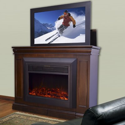 "Touchstone Conestoga 51"" W Lift TV Stand with Electric Fireplace - Finish: Espresso at Sears.com"