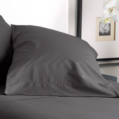 300 Thread Count Solid Pillowcase Size: King, Color: Graphite