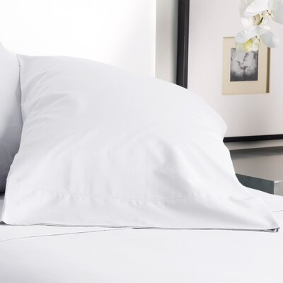 300 Thread Count Solid Pillowcase Size: King, Color: True White