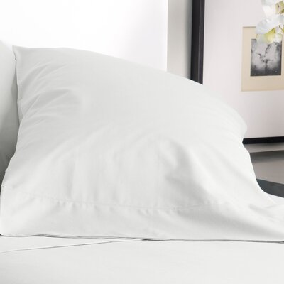 300 Thread Count Solid Pillowcase Size: King, Color: Cream