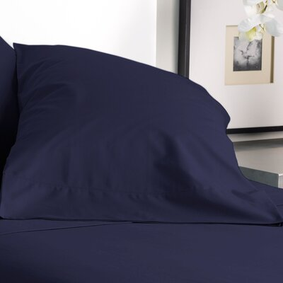 300 Thread Count Solid Pillowcase Size: Standard, Color: Evening Blue