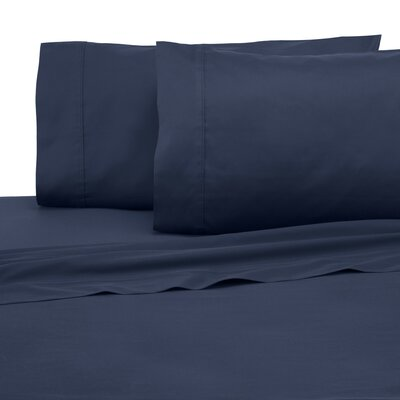 300 Thread Count Cotton Solid Sheet Set Size: King, Color: Dark Denim