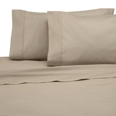 300 Thread Count Solid Pillowcase Size: King, Color: Khaki