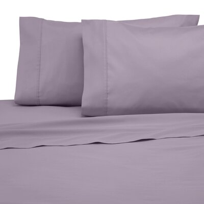 300 Thread Count Cotton Solid Sheet Set Size: King, Color: Lilac