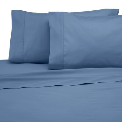 300 Thread Count Cotton Solid Sheet Set Color: Medium Blue, Size: Twin XL