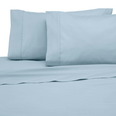 300 Thread Count Solid Pillowcase Size: King, Color: Soft Aqua