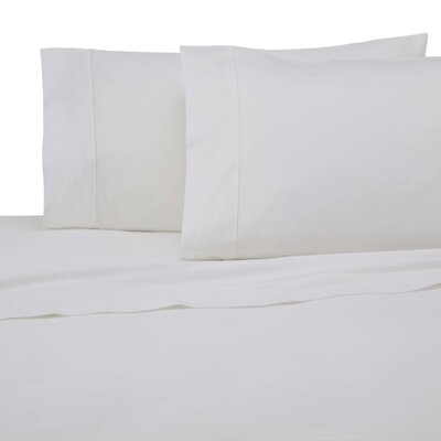 300 Thread Count Cotton Solid Sheet Set Color: White, Size: Twin XL