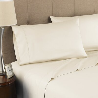 Harwood Organic 300 Thread Count Cotton Sheet Set Size: Twin, Color: Ivory